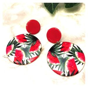 Jewelry - Fun & Funky Watermelon Drop Earrings